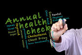 Annual health check concept — Stockfoto