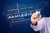 Admissions of Faculty in University — Stock Photo