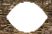 Porous wall for background — Stock Photo