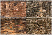 Background of brick wall texture collection — Photo