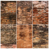 Background of brick wall texture collection — Stockfoto