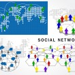Vector social network structure — Stock Vector