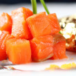 Salmon fillet in cream sauce caviar — Stock Photo #43013021