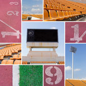 Football stadium collection — Stock Photo