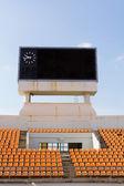 サッカー スタジアムでスコアボード — ストック写真