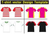 T-shirt vector template — Stock Vector