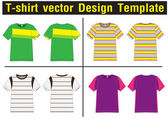T シャツのベクトル テンプレート — ストックベクタ