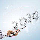 2014 business plan concept ideas — Stock Photo