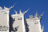 Roof Wat Rong Khun,Chiangrai, Temple in Thailand — Stock Photo