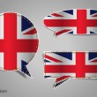 Speech bubble of english flag — Stock Vector #47399595