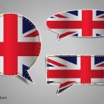 Speech bubble of english flag — Stock Vector