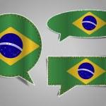 Speech bubble of brazil flag — Stock Vector #47399659