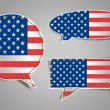 Speech bubble of american flag — Stock Vector