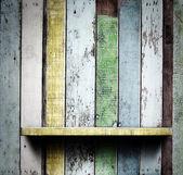 Wooden shelves — Stock Photo