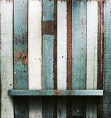 Wooden shelves — Foto de Stock
