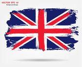 Union Jack national flag of United Kingdom UK — Stock Vector
