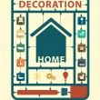 Furniture flat icons home decoration idea concept — Stock Vector #51455667