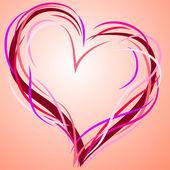 абстрактный сердце. — Cтоковый вектор