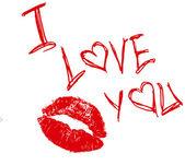 Seni seviyorum. — Stok Vektör