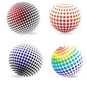 Color halftone circles . — Stock Vector