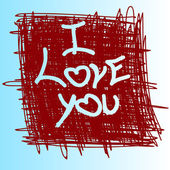 Phrase : I love you . — Vector de stock