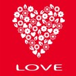 Postcard loving heart. — Stock Vector #48178207