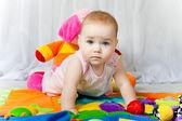 Blue eyes cute baby — Stock Photo