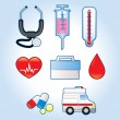Healthcare And Medicine icon set — Stock Vector
