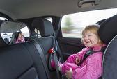 Baby in autostoel — Stockfoto