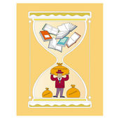 Time and books — Stock Vector