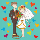 Wedding1 — Vector de stock