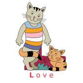 Litera l - miłość — Wektor stockowy