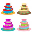 Cakes for children without candles set — Stock Vector