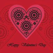 Elegantní karta pro den svatého valentýna — Stock vektor