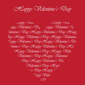 Elegant card for Valentine's Day — Stock Vector