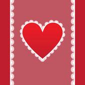 Elegant card for Valentine's Day — Stock vektor