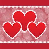 Elegant kort för alla hjärtans dag — Stockvektor