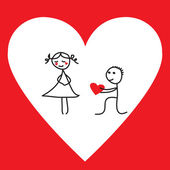 Funny proposal for Valentine's Day — Stock Vector