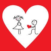Divertente proposta per San Valentino — Vettoriale Stock