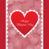 バレンタインの日にエレガントなカード — ストックベクタ