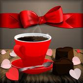 Kahve çikolata şeker. — Stok Vektör