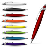 Set of pens. — Stock Vector