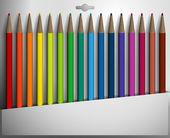 Vektor-Illustration einer Buntstifte-Box. — Stockvektor