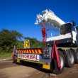 Mobile Crane Hoist — Stock Photo