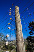 Electrified Fence Security — Foto Stock