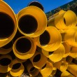 Stock Photo: Plastic Pipes Drainage Detail