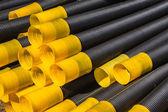 Detail odvodňovací plastové potrubí — Stock fotografie