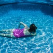 Stock Photo: Girl Underwater Pool Playtime