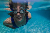 Girl Underwater Pool Playtime — Stock Photo