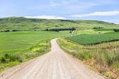 Dirt Road Farming Mountains — Stock Photo